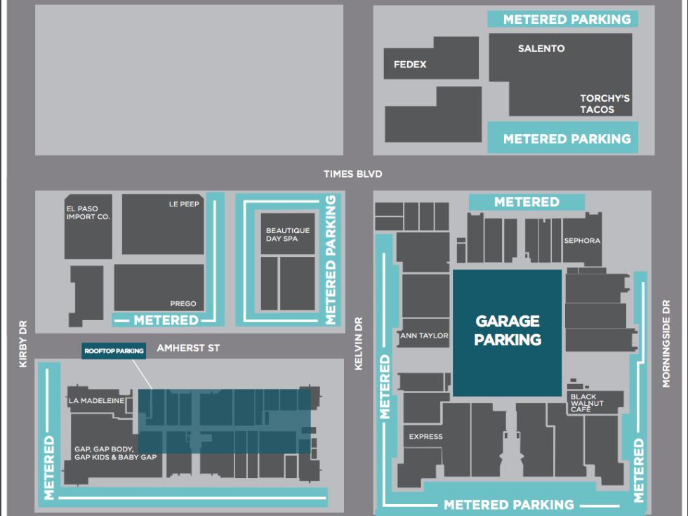 Rice Village parking meters map