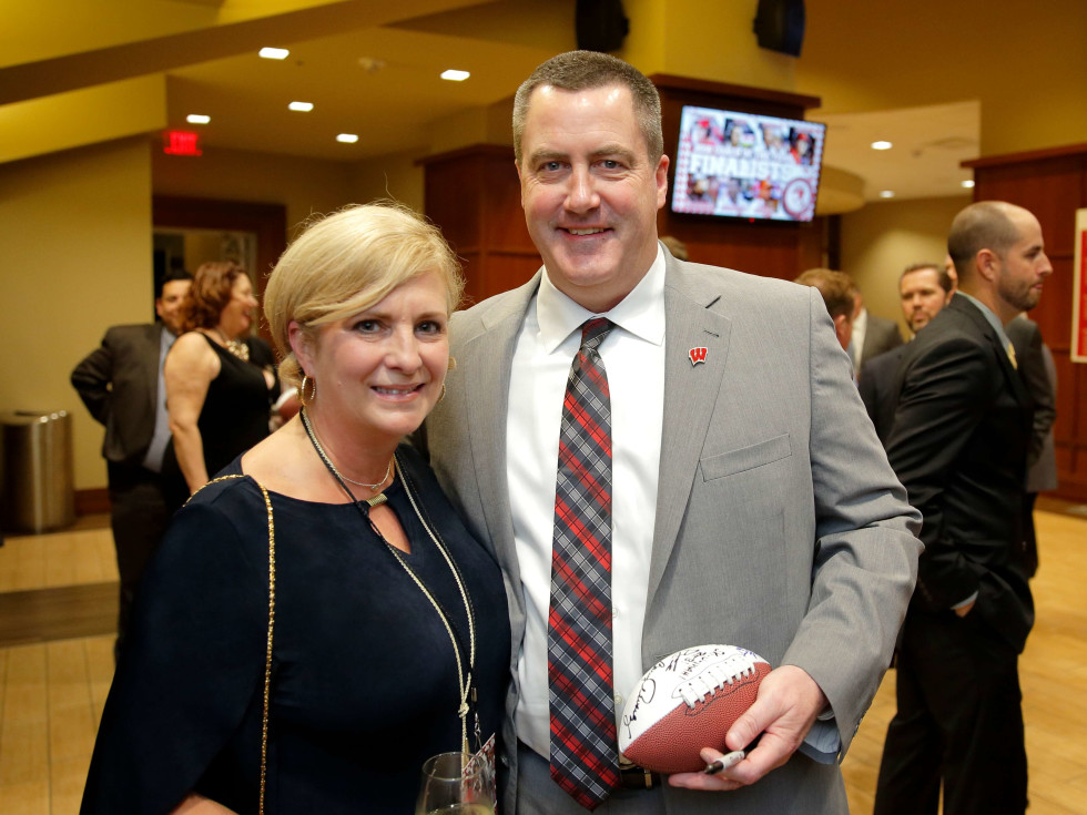 "Houston, Paul ""Bear"" Bryant Awards, college coach of the year, Jan 2017, Shelley Watson, Paul Chryst"