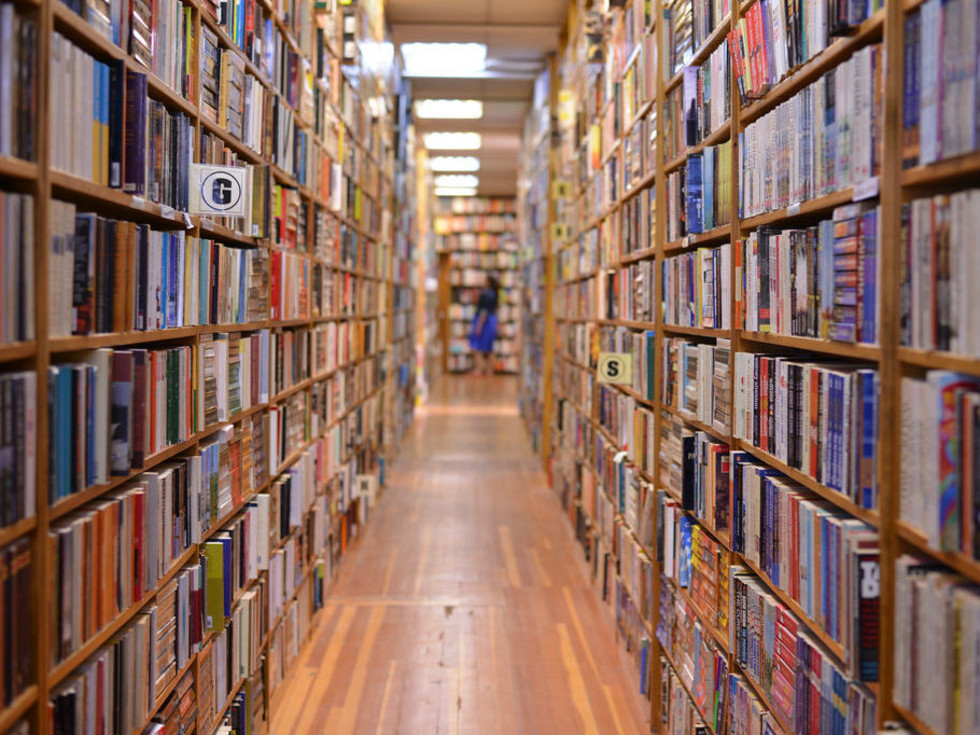 Books, shelves