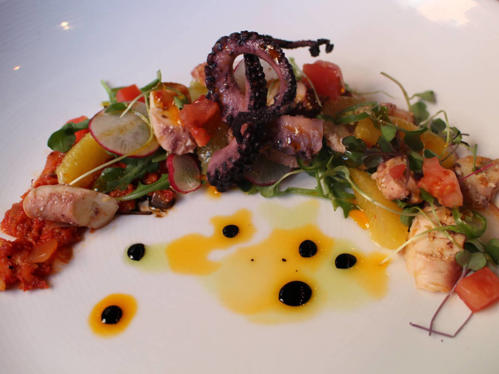 Boiler House Texas Grill & Wine Garden char-grilled octopus
