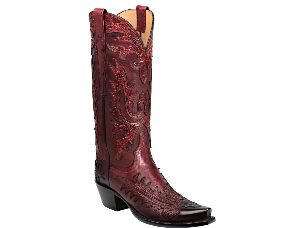 Lucchese Waverly Wine Boot