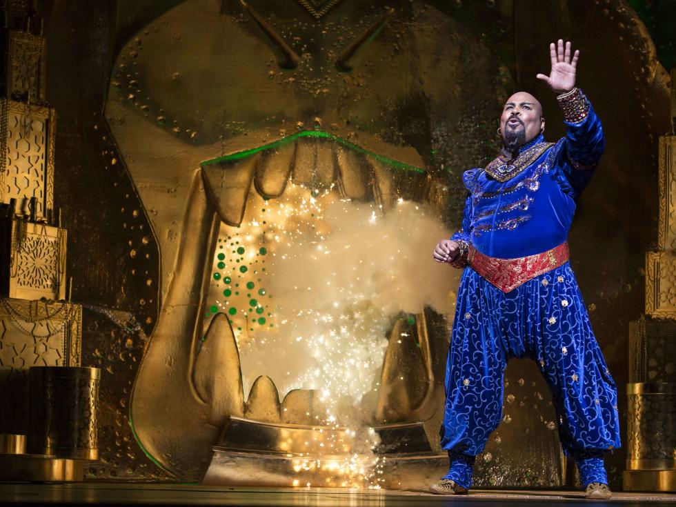 James Monroe Iglehart in Disney's Aladdin