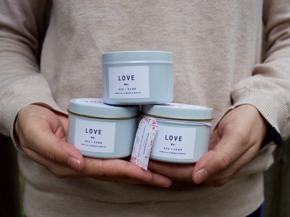 LOVE candles Elderflower Farmacy