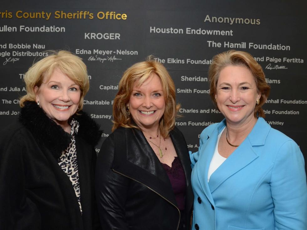 Jan Carson, Shara Fryer, Kim Ogg at Crime Stoppers Building dedication