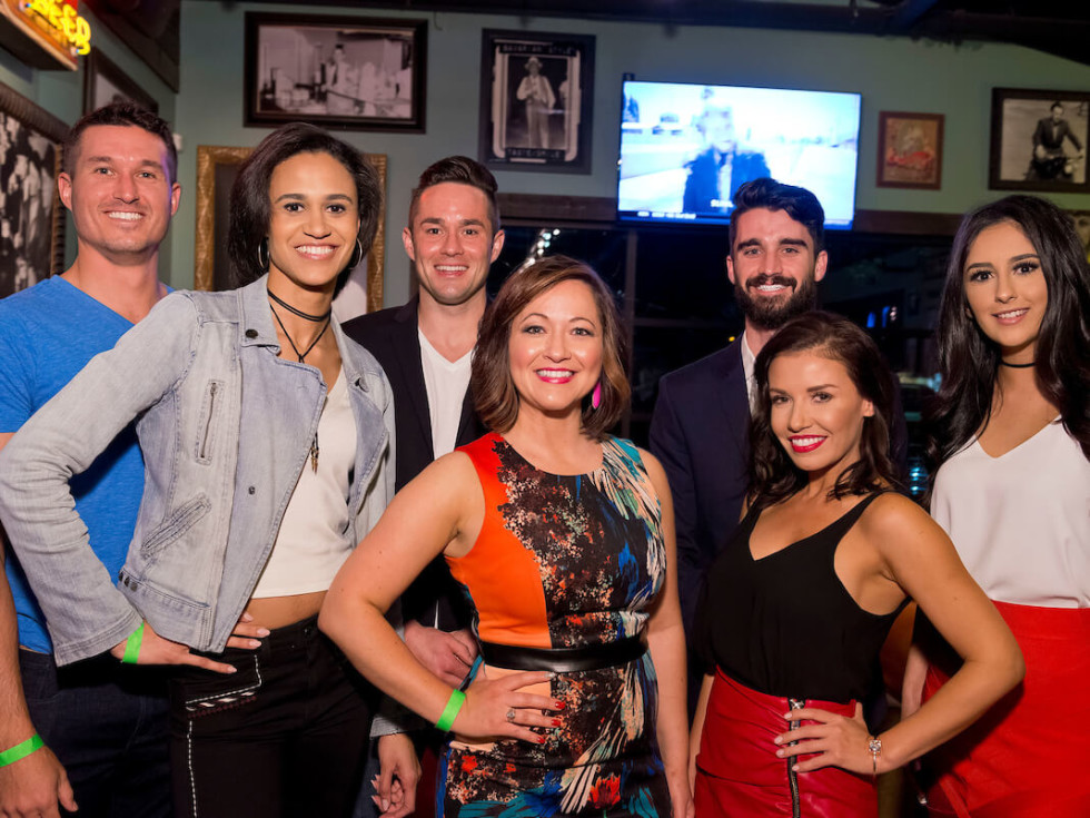 Houston, Red Buds Date Auction, Feb 2017, Karl Kremser, Alex Hendren, Michael Malthaner, Alexa Covarrubias, Lacee Jacobs, Cindy Elena Rodriguez, Dalia Orlenas