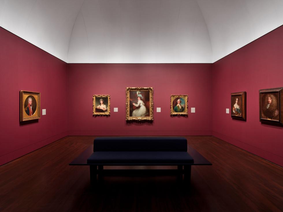 Blanton Museum of Art European galleries installation 2017