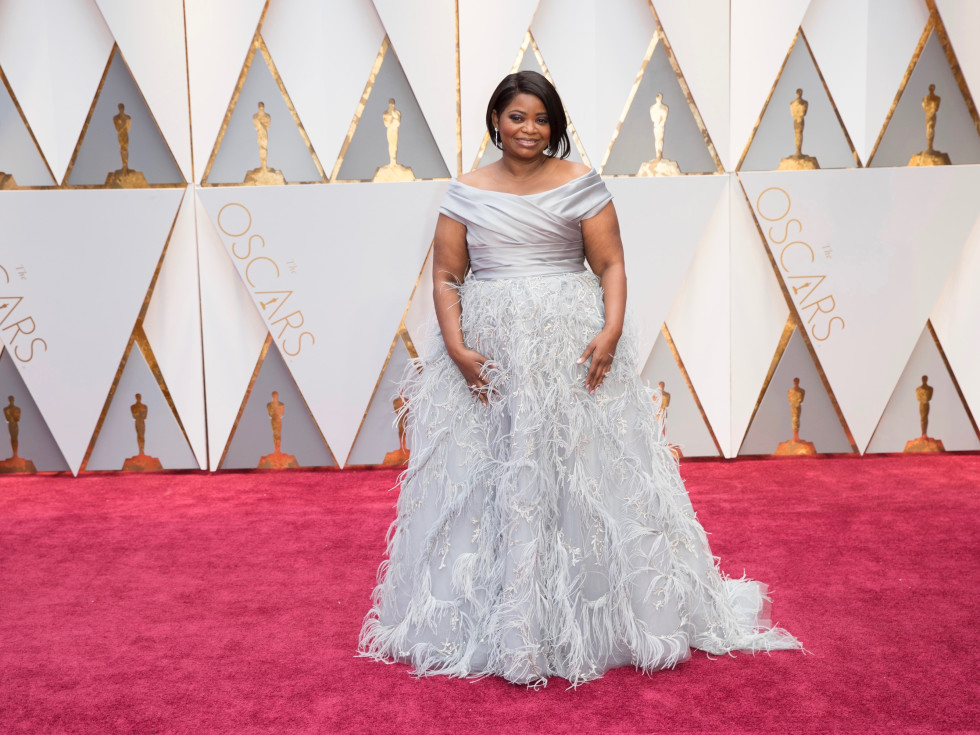 Octavia Spencer in Marchesa at Oscars 2017