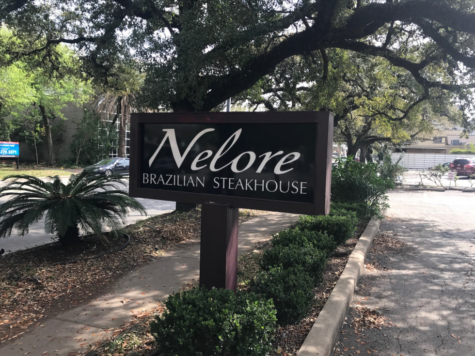 Nelore Brazilian steakhouse sign