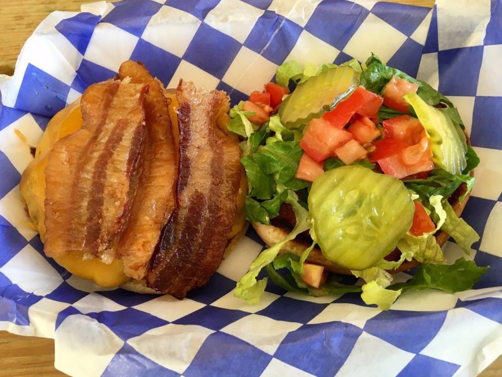 Hippie Chic's River Shack Concan burger