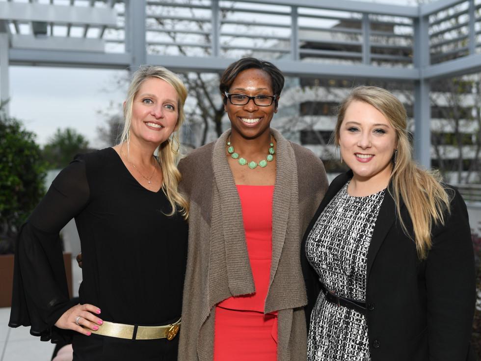 Courtney Diepraam, Teal Holden, Kate Willis at Dress For Success Models of Success