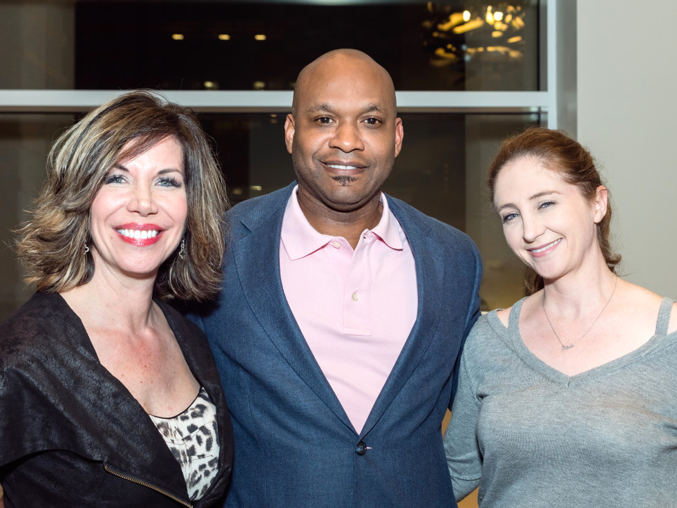 Houston, Pratham Houston's gala kickoff, March 2017, Roseann Rogers, Arthur Siberand, Angela Strum