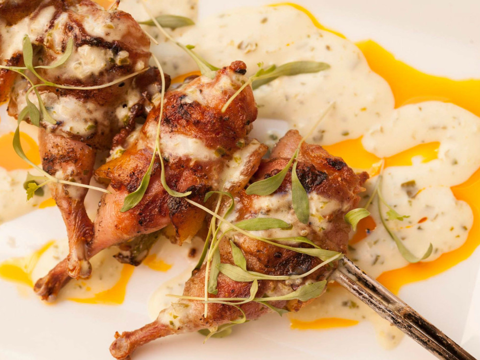 The Boiler House quail poppers