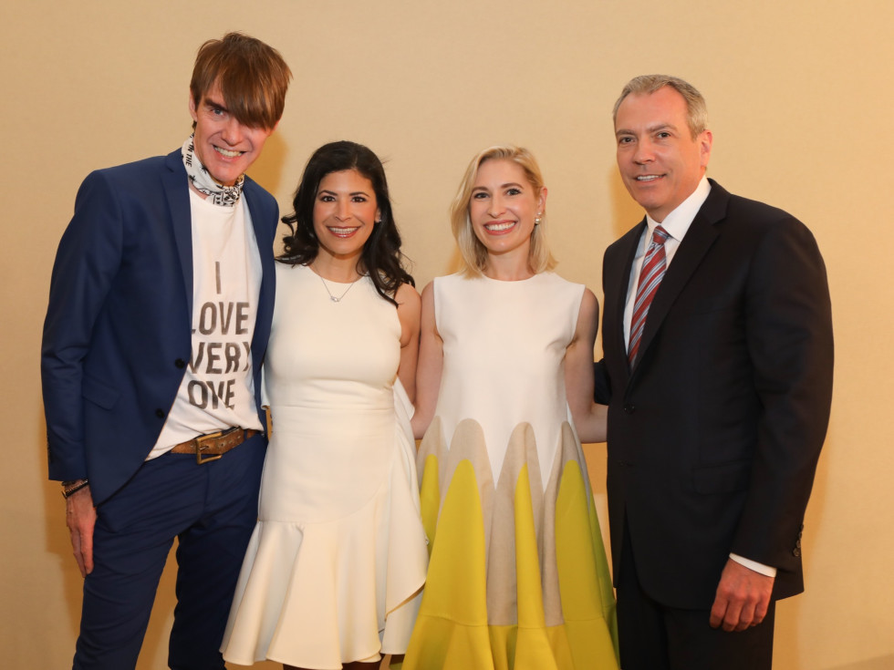 Ken Downing, Kristy Bradshaw, Isabel David, Bob Devlin at Best Dressed Luncheon 2017