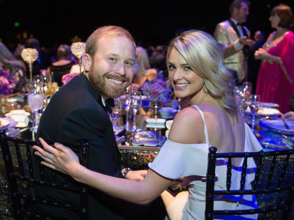 Pierce Bush, Sarabeth Melton at TUTS Dreamgirls gala 2017
