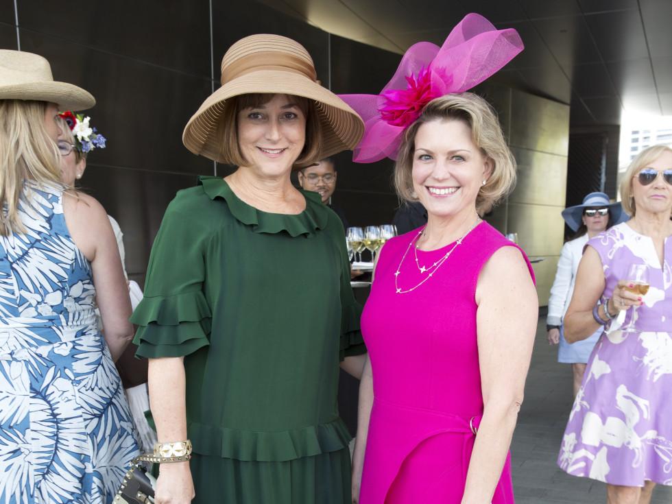 Houston, hats in the park, April 2017, Leigh Smith, Kelley Lubanko