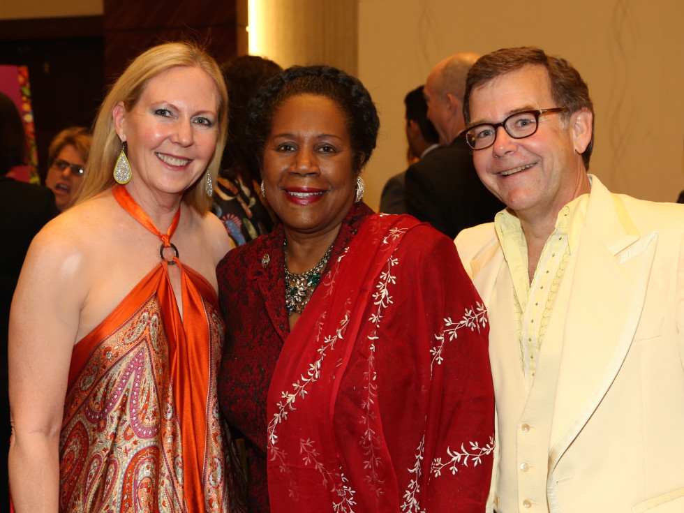 Cynthia George, Sheila Jackson Lee and Wiley George at Houston Area Women's Center Gala