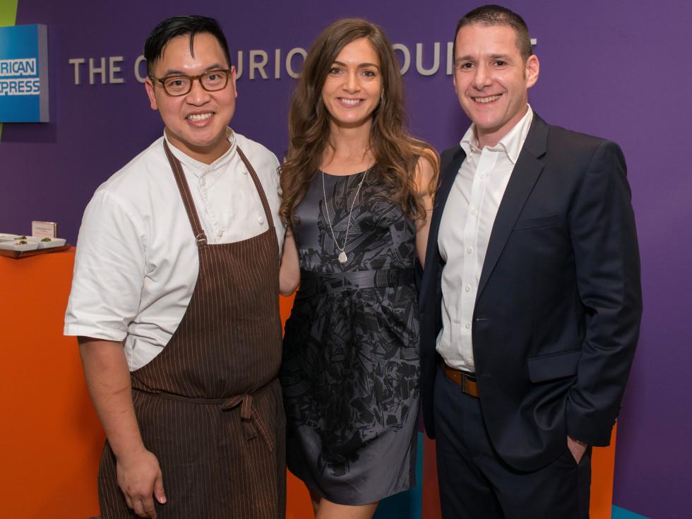 Centurion Lounge at IAH, Justin Yu, Sarah Frese, Chris Cracchiolo