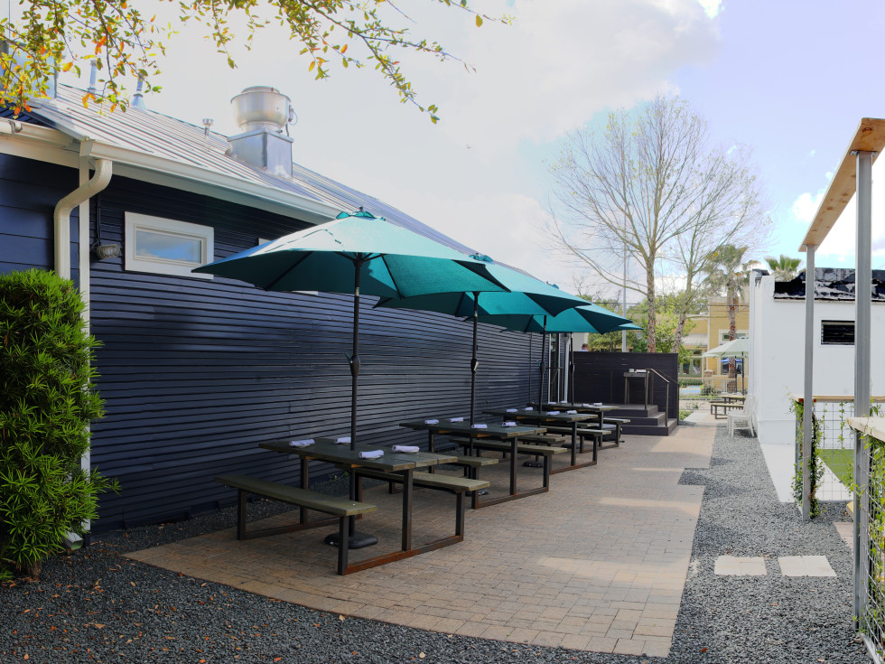 Houston, new patios, April 2017, field and tides
