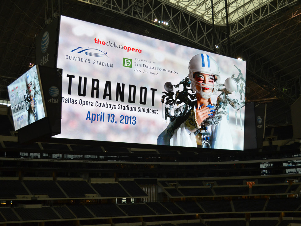 Dallas Opera's Turandot at Cowboys Stadium