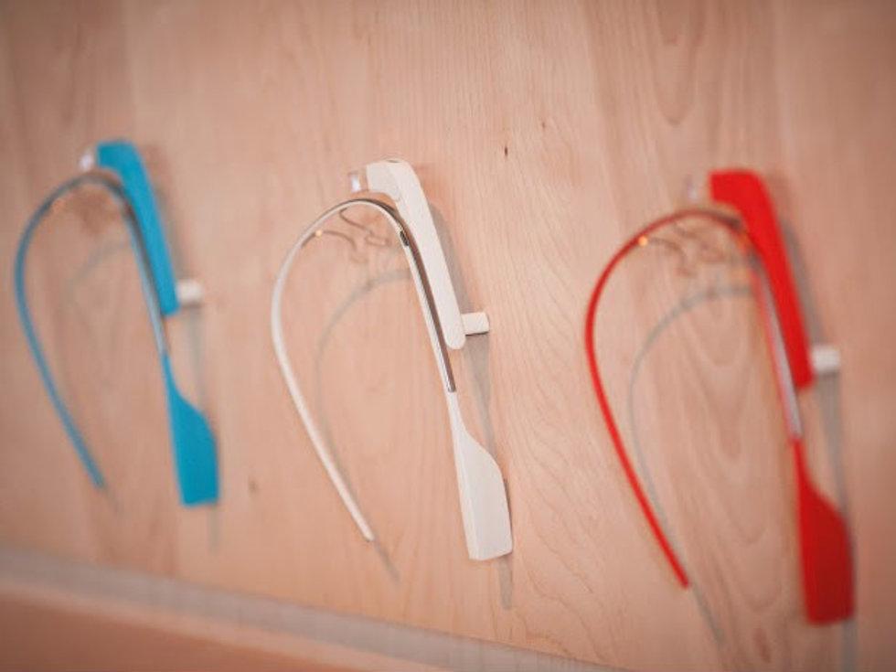 Google Glass sets on display for public demonstration