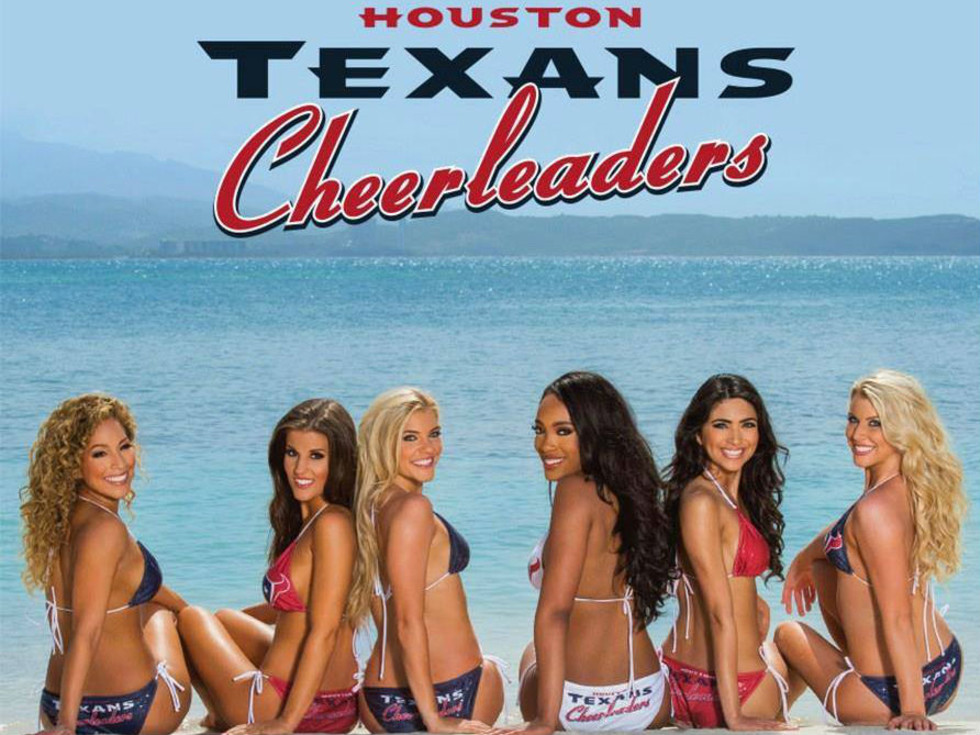 Houston Texans Cheerleaders Calendar Reveal Party