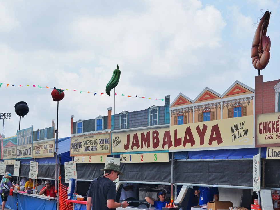 Jazz Fest in New Orleans food court