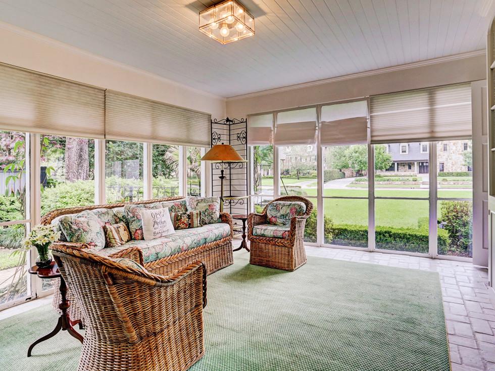 Denton Cooley River Oaks home for sale garden room