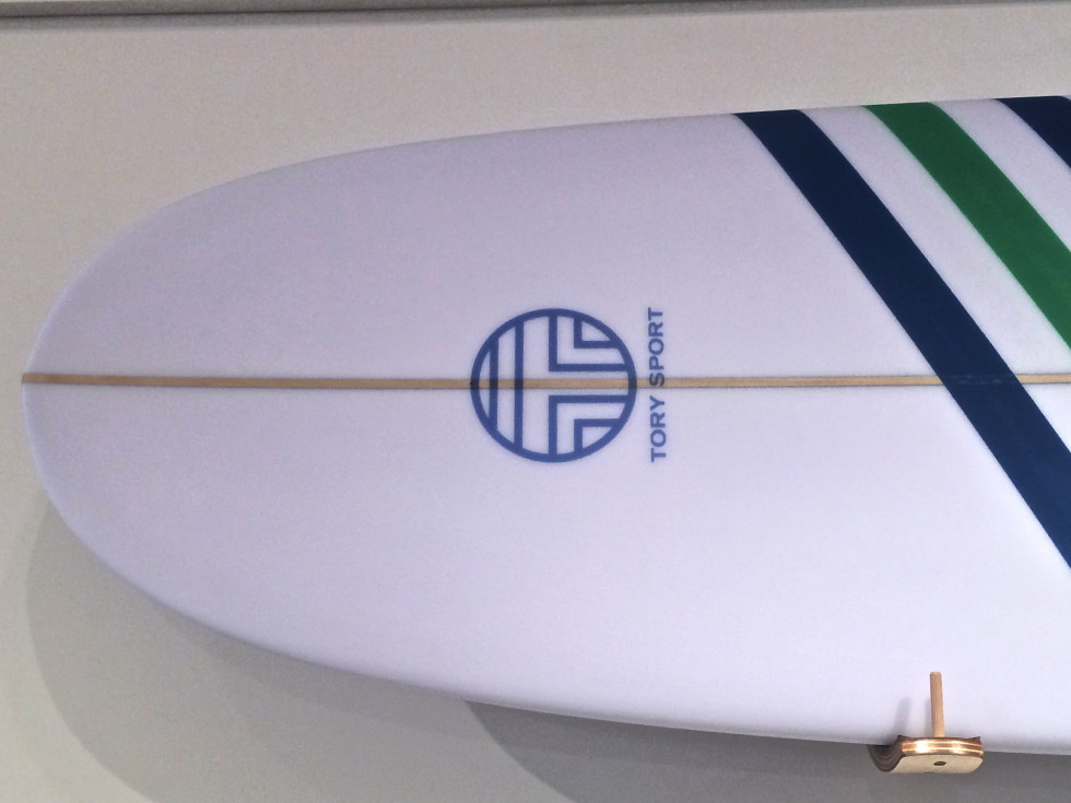 Tory Burch Sport 2015 surfboard