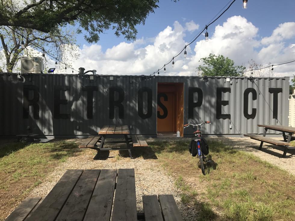 Retrospect Coffee Bar courtyard