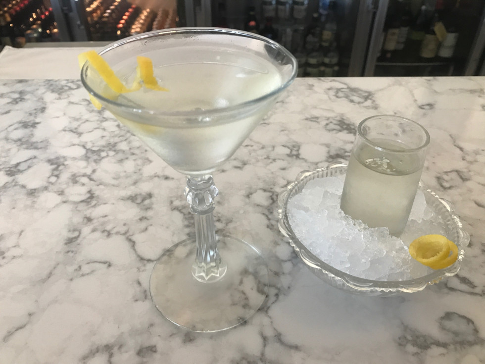 Starfish martini sidecar