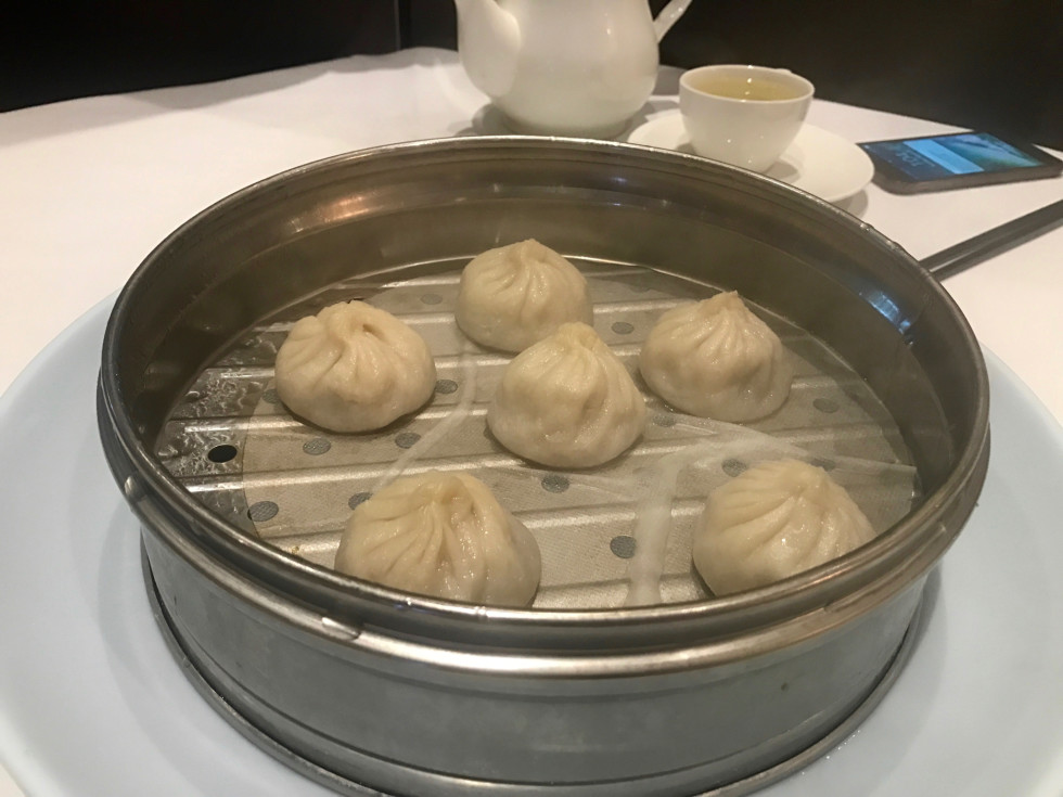 Regal seafood soup dumplings