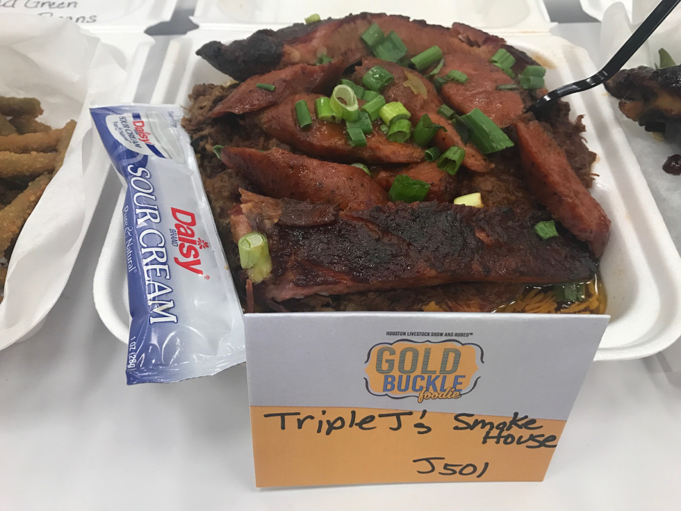 Gold Buckle Triple J's barbecue plate