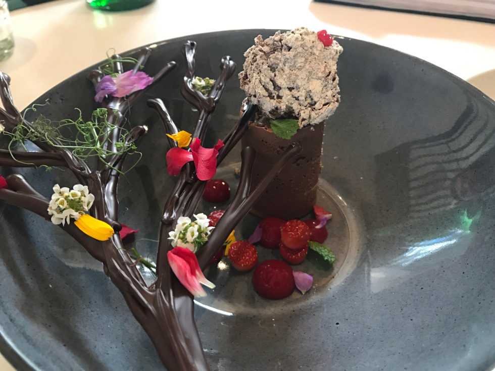 Xochi chocolate dessert