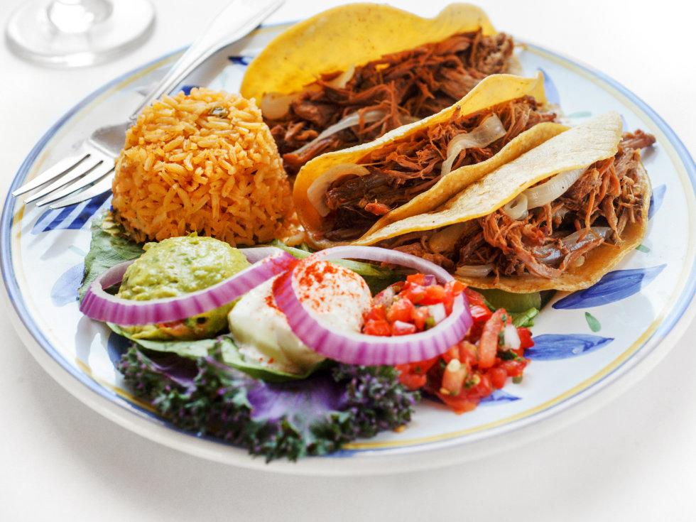 Brisket tacos from Fernando's