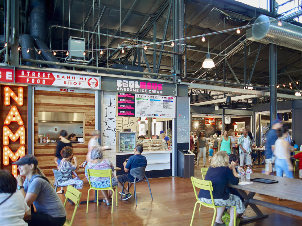 The Market food hall at Dallas Farmers Market