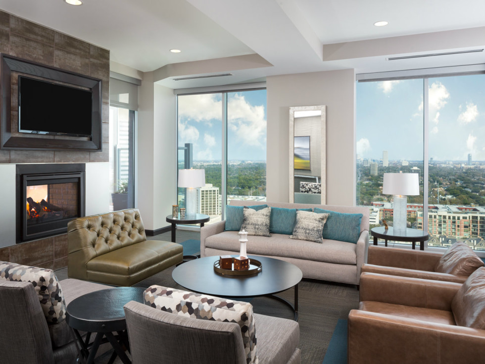 SkyHouse River Oaks club room