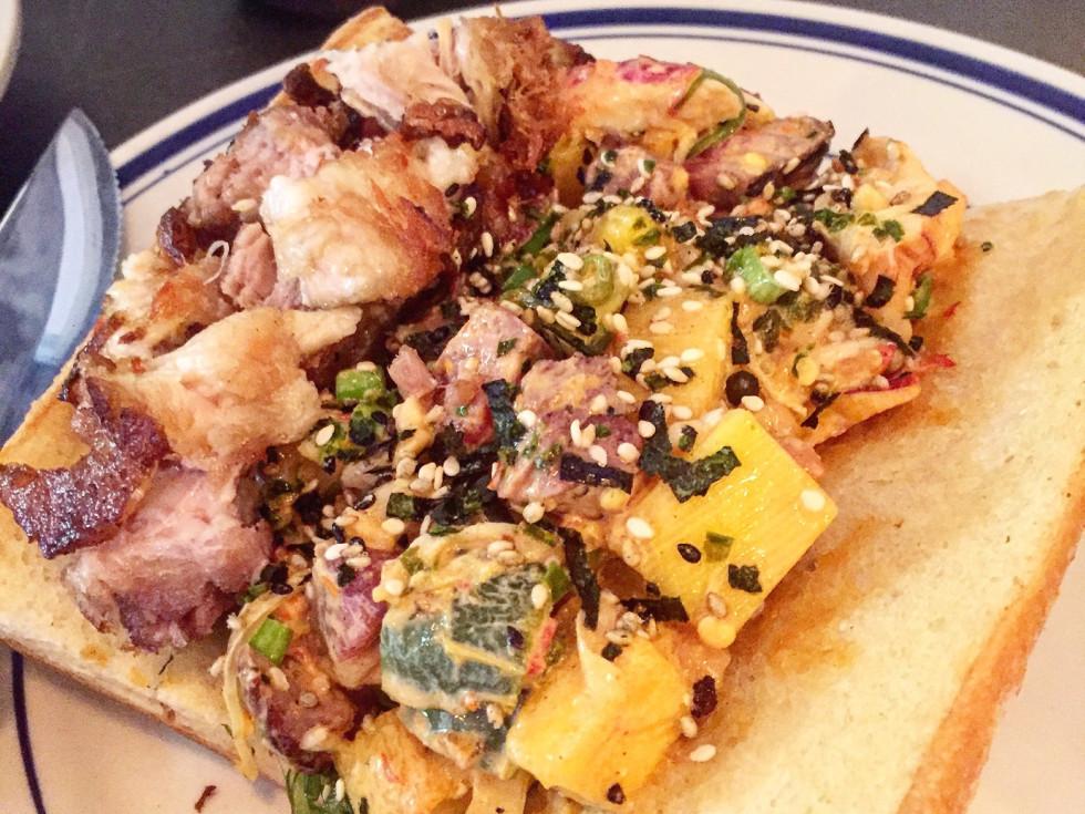 Liberty Kitchen Garden Oaks poke sandwich