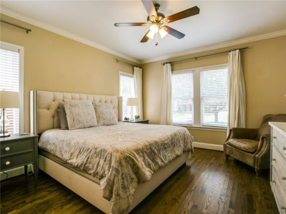 Master bedroom at 5839 Marquita Ave. in Dallas