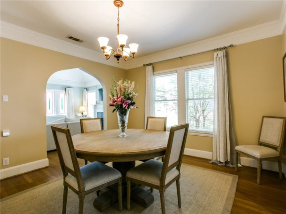 Dining room at 5839 Marquita Ave. in Dallas