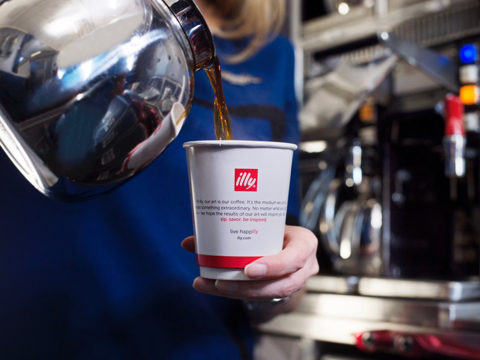 illy coffee/United Airlines