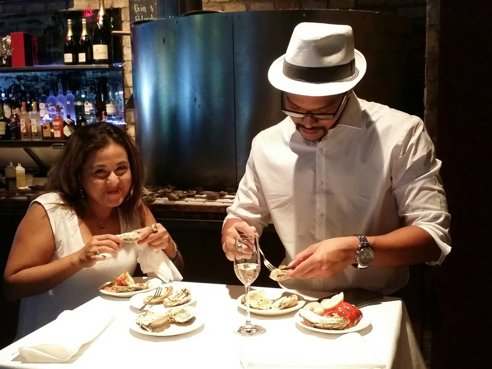 The Tasting Room oysters June 2016, Michelle Carr, Ryan Fernanez