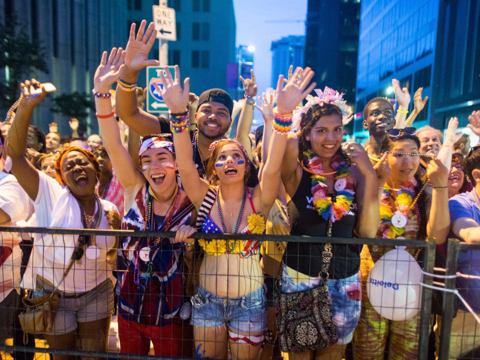 Houston Pride Parade revelers