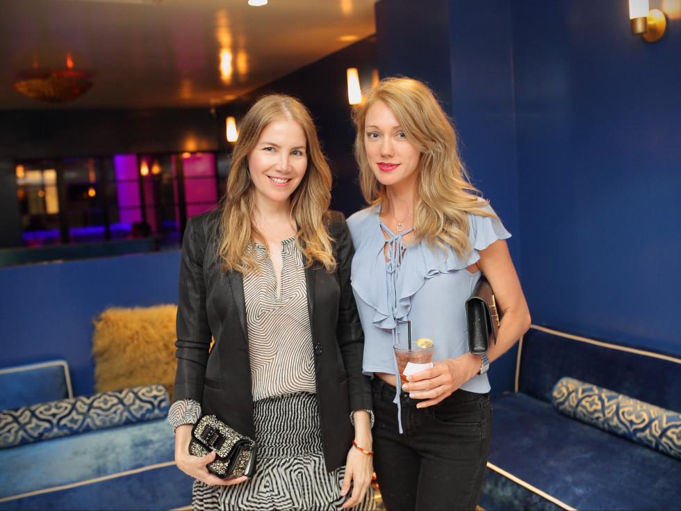 Bar Bleu opening, 6/16, Lilian Rendon, Leslie Sharp