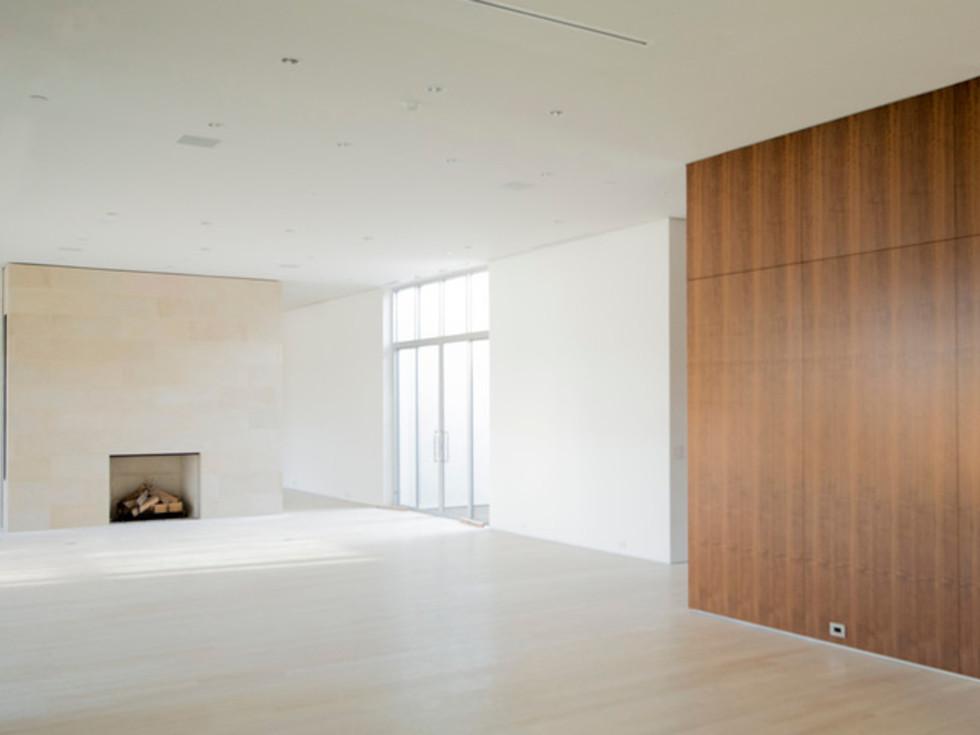 Houzz Dallas house home modern minimalism June 2016 interior living room fireplace