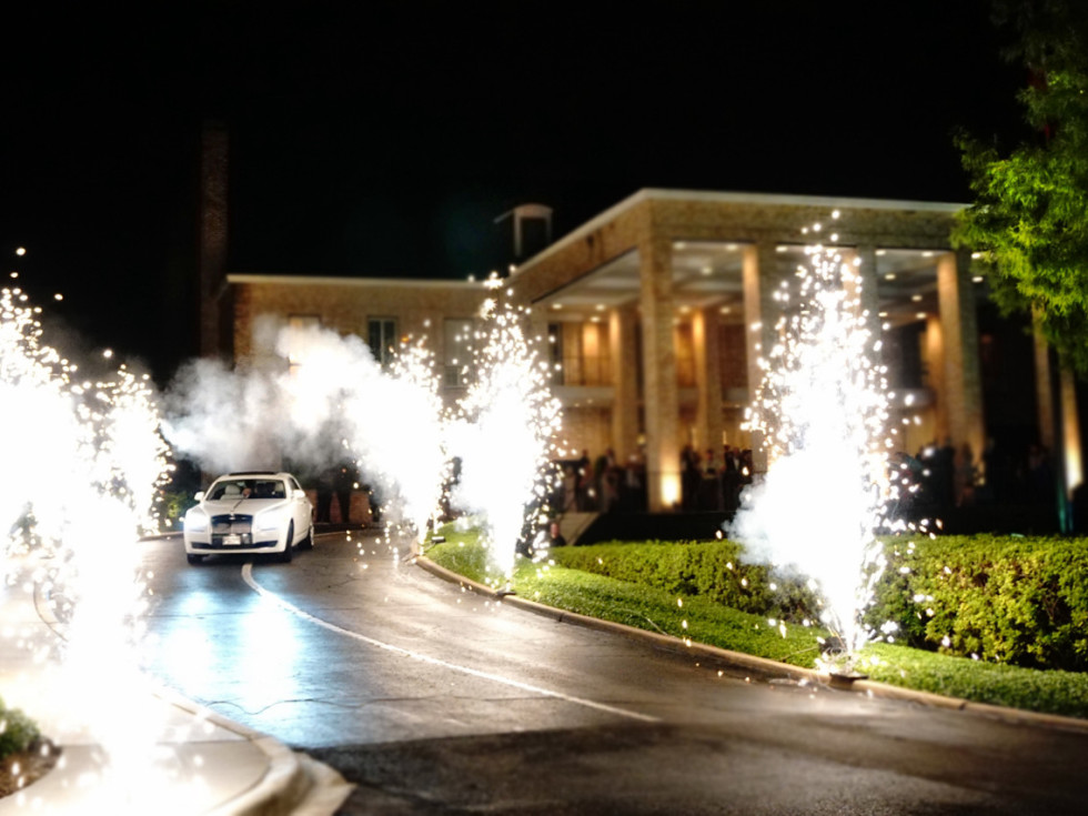 Houston, Chita Johnson wedding, June 2016, fireworks