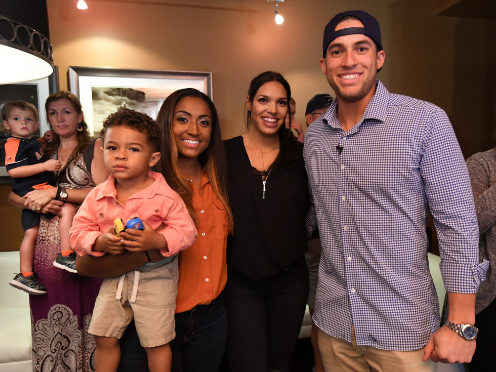 Houston, George Spring Bowling Event, June 2016, Lena Springer, George Springer, Charlise Castro