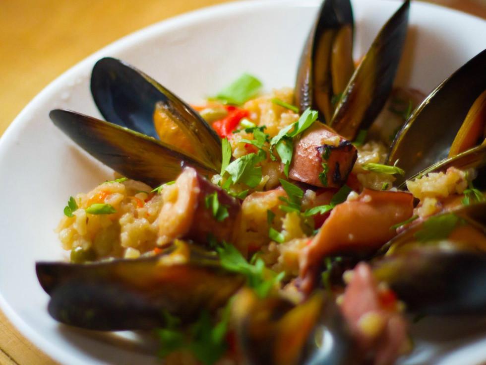 La Bodega Gourmet Austin restaurant catering paella