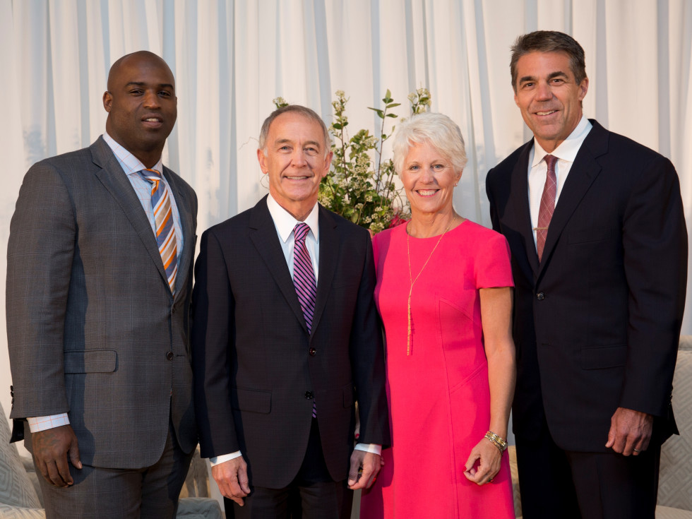 Houston, Menninger Clinic Annual Luncheon, May 2016, Ricky Williams, Dr. C. Edward Coffey, Kathy Coffey, Chris Fowler