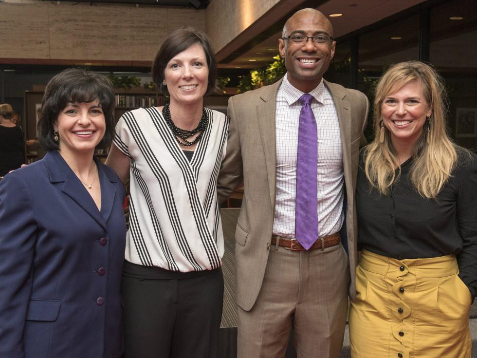 Women in Leadership luncheon LBJ Future Forum May 2016 Christi Craddick Jill Angelo Lemuel Williams Jessica Honegger