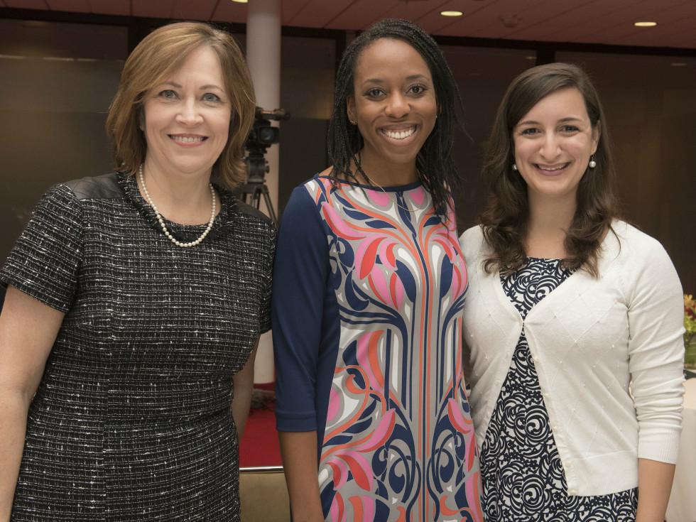 Women in Leadership luncheon LBJ Future Forum May 2016 Ellen Arnold Aerin Pfaffenberger Meghan Kempf